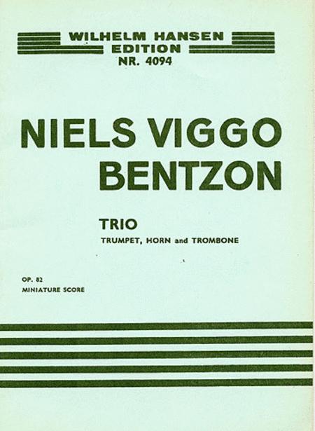 Niels Viggo Bentzon: Brass Trio Op.82 (Score)