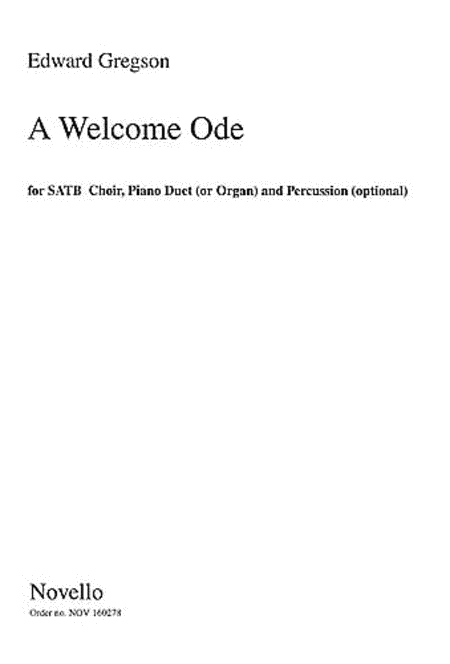Edward Gregson: A Welcome Ode (Score)