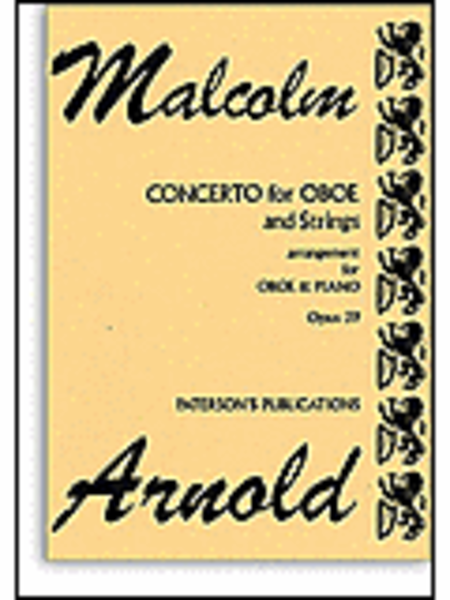 Malcolm Arnold: Concerto For Oboe And Strings Op.39 (Oboe/Piano)