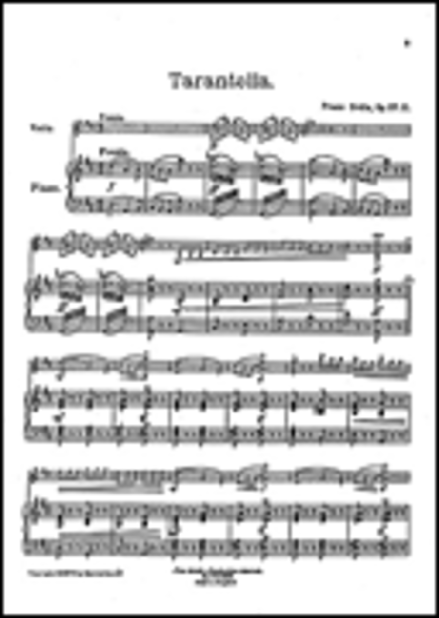 Tarantella for Violin and Piano, Op. 27, No. 2
