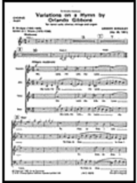 Variations on a Hymn by Gibbons