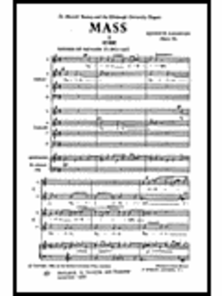 Mass, Op. 44 for Double Choir