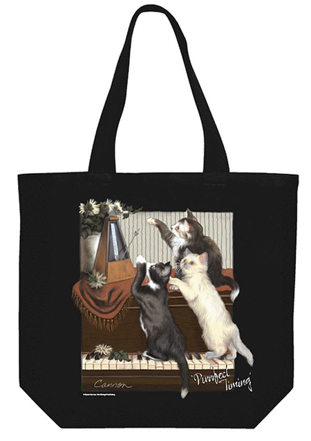 Purrfect Timing Tote Bag