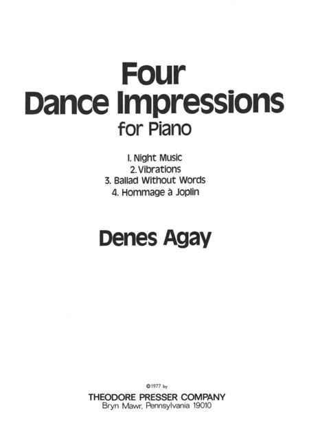 Four Dance Impressions