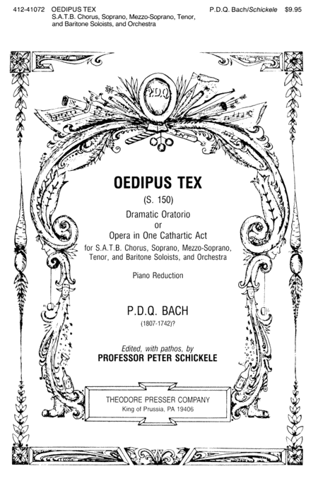 Oedipus Tex Dramatic Oratorio Or Opera in One Cathartic Act