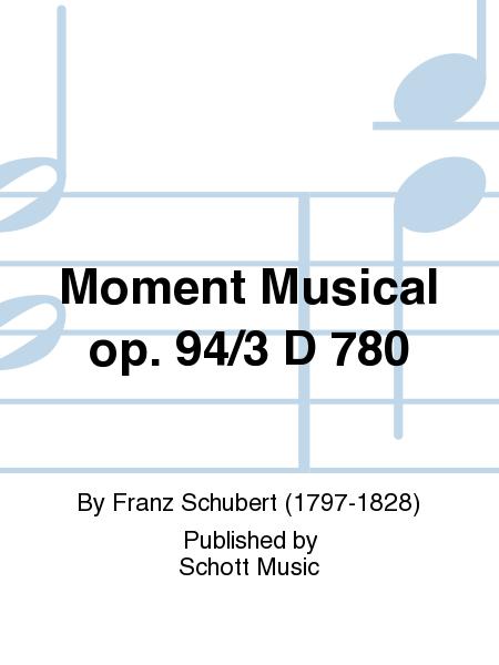 Moment Musical op. 94/3 D 780