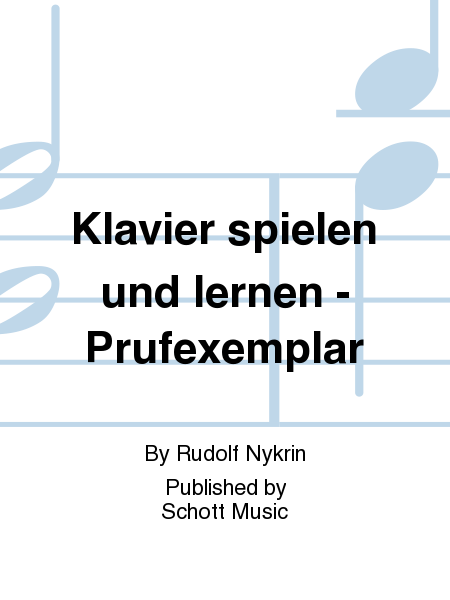 klavier spielen und lernen prufexemplar sheet music by rudolf nykrin sheet music plus. Black Bedroom Furniture Sets. Home Design Ideas