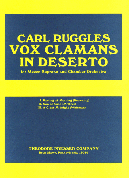 Vox Clamans in Deserto