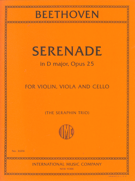 Serenade in D major, Opus 25