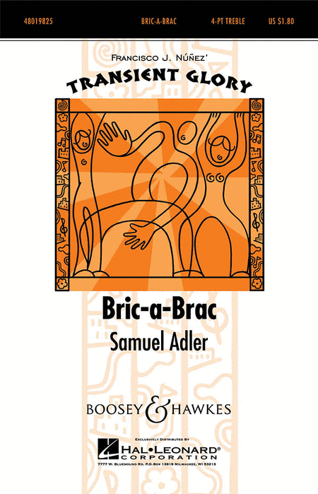 bric a brac sheet music by samuel adler sheet music plus. Black Bedroom Furniture Sets. Home Design Ideas