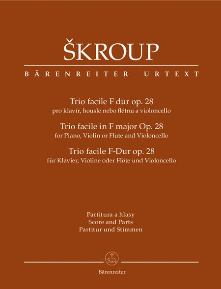 Trio facile for Piano, Violin or Flute and Violincello F major op. 28