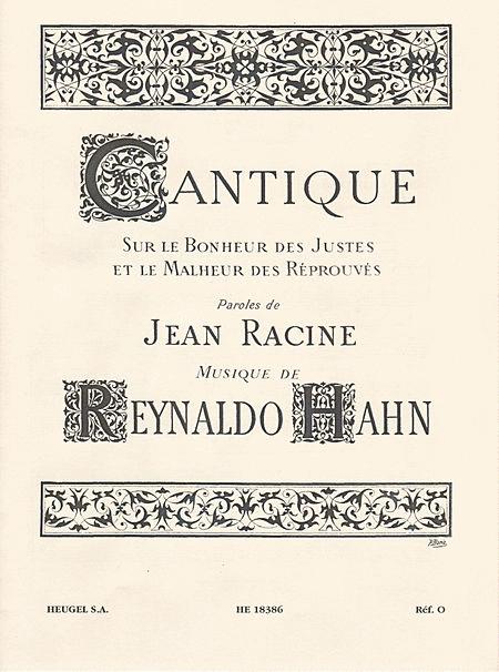 Cantique Sur Le Bonheur Des Justes/Chant (Solo Ou Choeur De Femmes) Et Piano