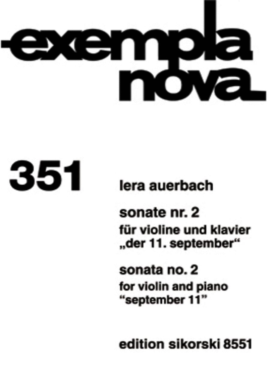 Sonata No. 2 for Violin and Piano