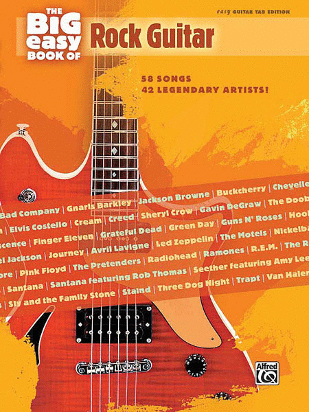 Simple Book Cover Guitar ~ The big easy book of rock guitar sheet music by various