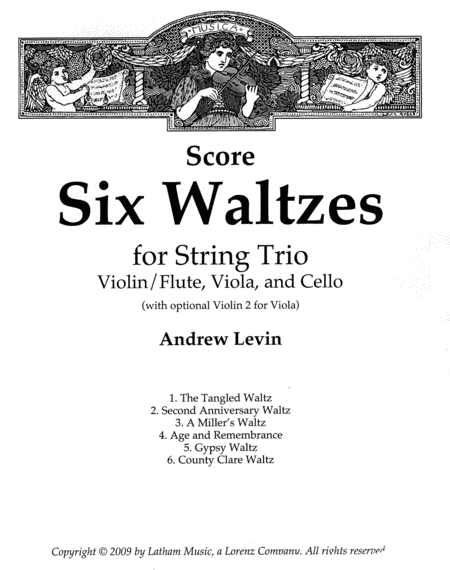 Six Waltzes for String Trio - Score