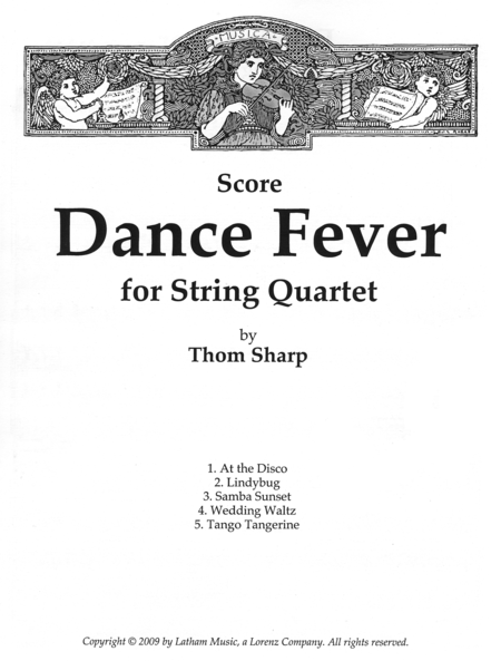 Dance Fever for String Quartet - Score