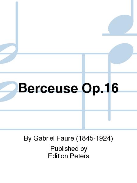 Berceuse Op. 16
