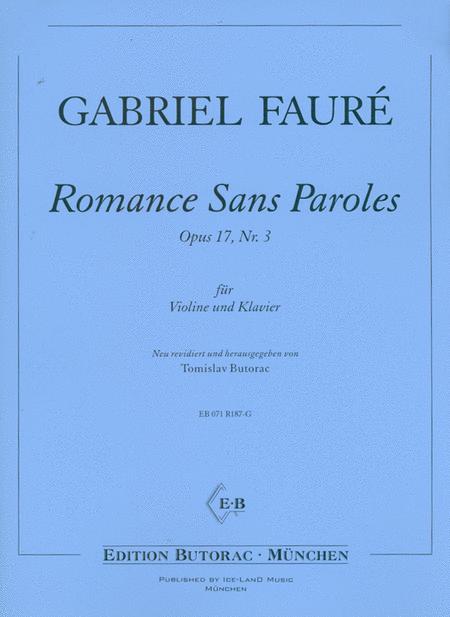 Romance Sans Paroles Op. 17 No. 3