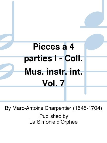 Pieces a 4 parties I - Coll. Mus. instr. int. Vol. 7