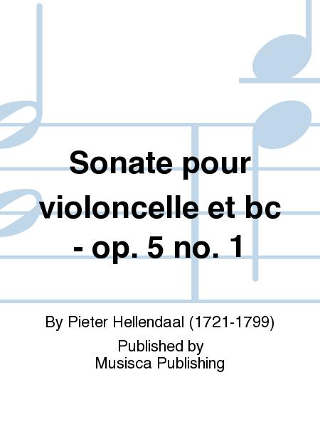 Sonate pour violoncelle et bc - op. 5 no. 1