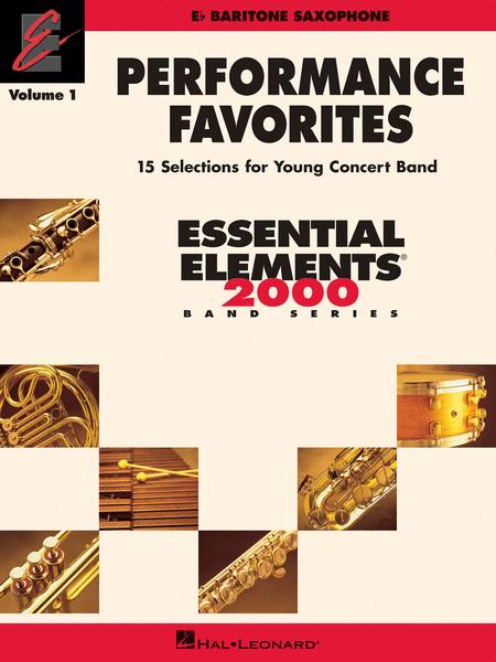 Performance Favorites, Vol. 1 - Baritone Saxophone