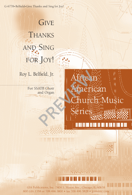 Give Thanks and Sing for Joy
