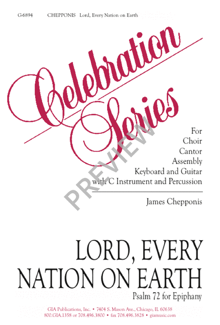 Lord, Every Nation on Earth