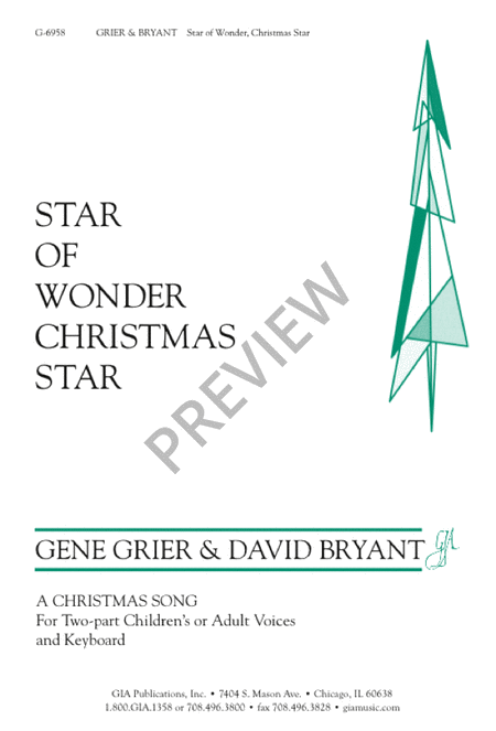 Star of Wonder, Christmas Star