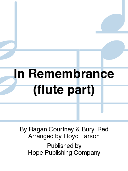 In Remembrance (flute part)