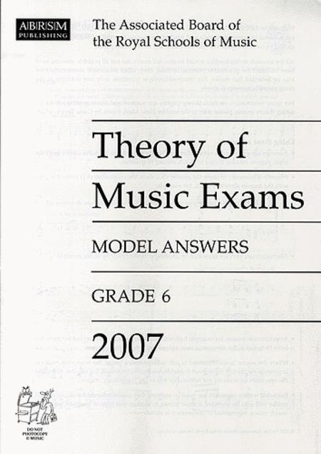 Theory of Music Exams 2007 Model Answers Grade 6