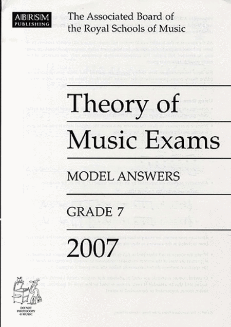 Theory of Music Exams 2007 Model Answers Grade 7