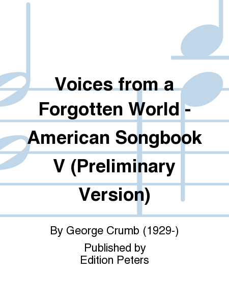 Voices from a Forgotten World - American Songbook V (Preliminary Version)