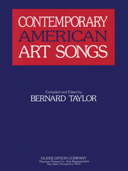 Contemporary American Art Songs