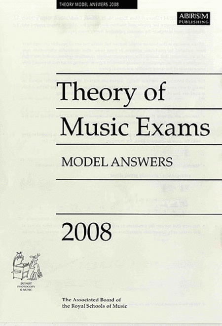 Theory of Music Exams 2008 Model Answers - Grade 6