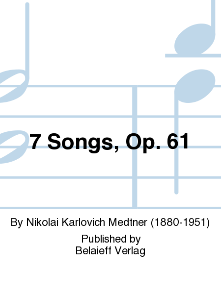 7 Songs, Op. 61