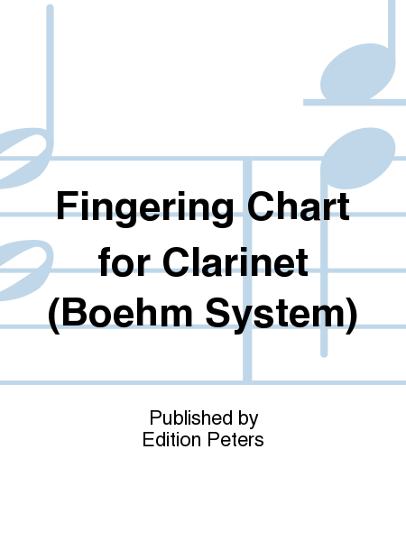 Fingering Chart for Clarinet (Boehm System)