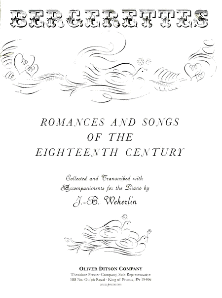 Romances And Songs of the Eighteenth Century