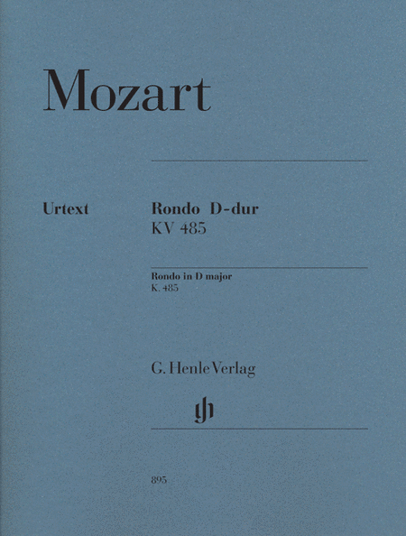 Rondo D Major KV485 for solo piano (Revised Edition)