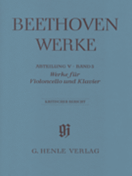 Works for Violoncello and Piano