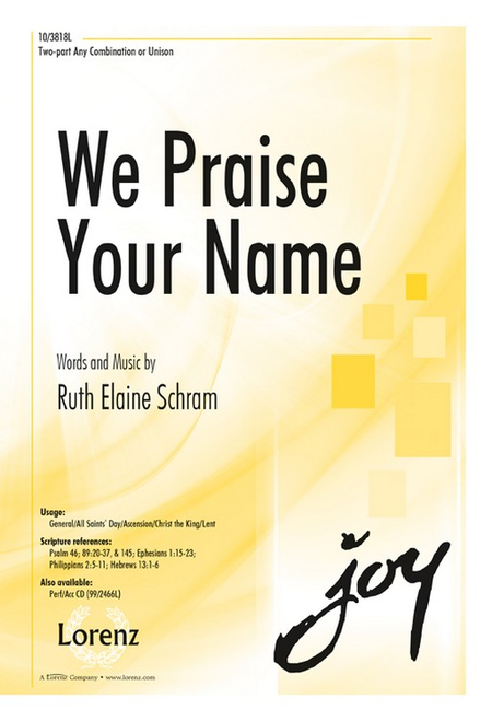 We Praise Your Name