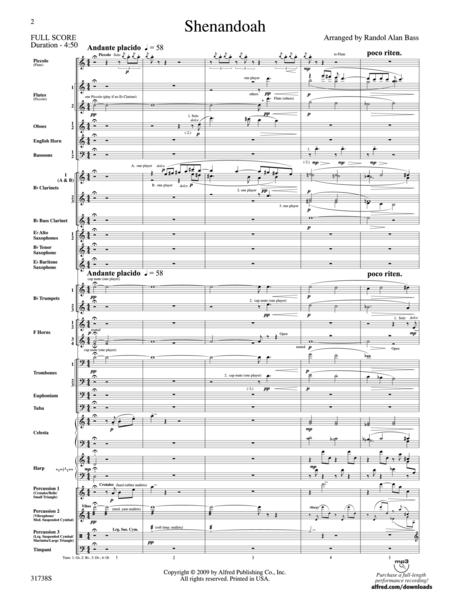 Shenandoah (score only)