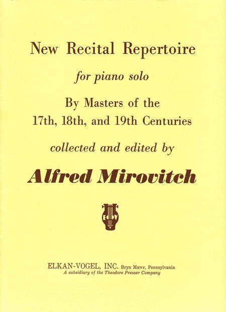 New Recital Repertoire