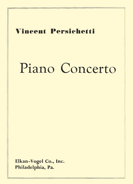 Concerto for Piano and Orchestra