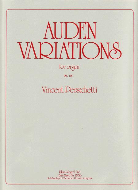 Auden Variations, Op. 136