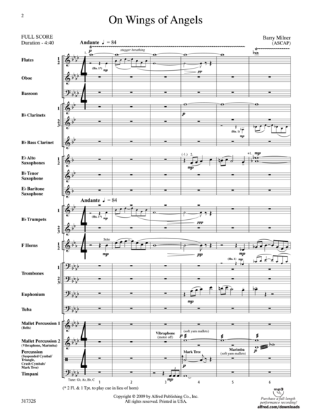 On Wings of Angels (score only)
