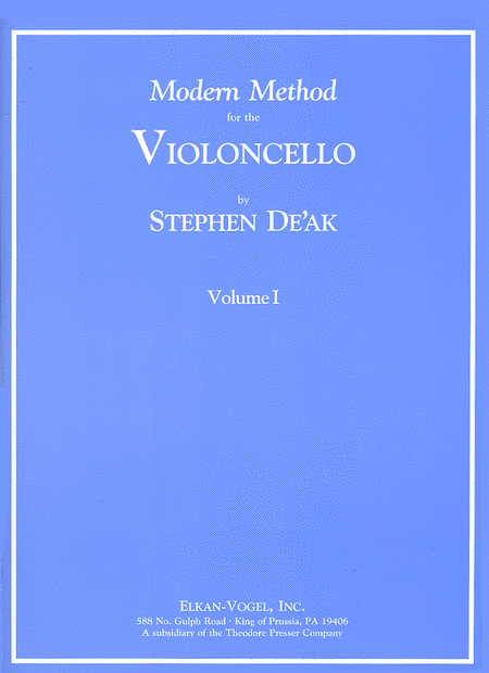 Modern Method for the Violoncello, Volume 1