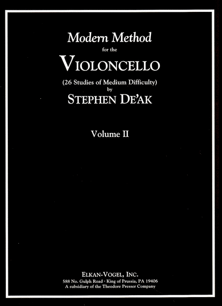 Modern Method for the Violoncello, Volume 2
