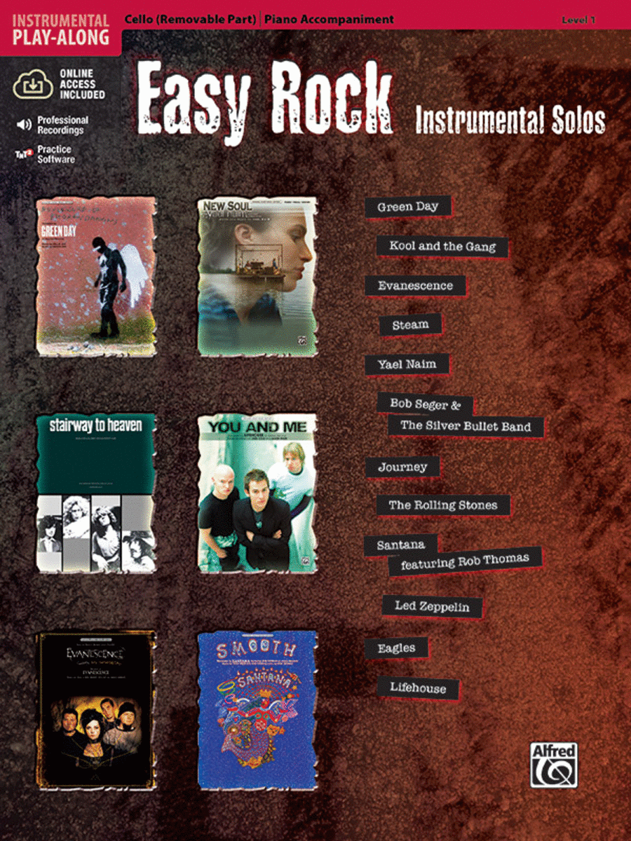 Easy Rock Instrumental Solos for Strings, Level 1