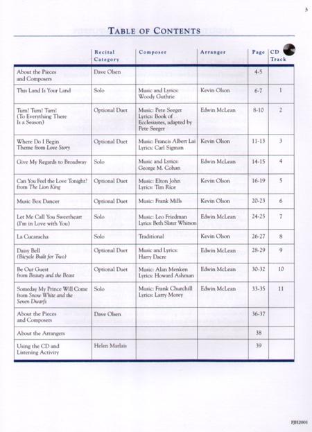 In Recital! with Popular Music, Book 2