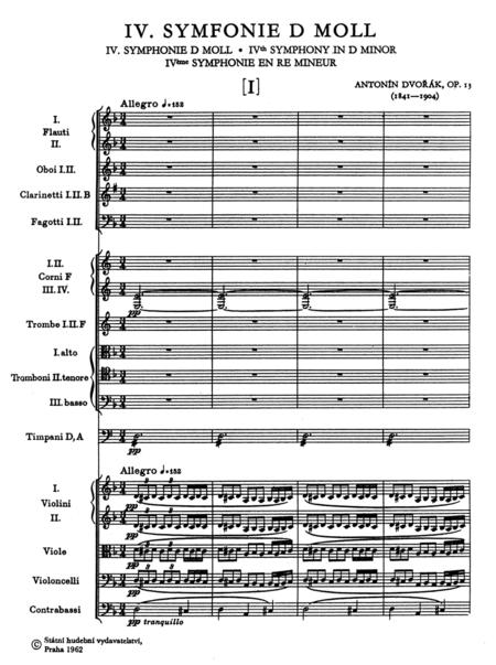 Symphony No. 4 d minor op. 13